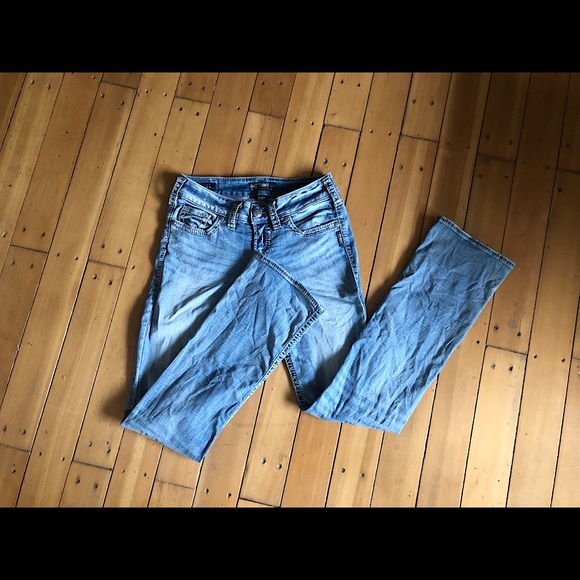 Suki Silver Jeans- Mid Slim Boot